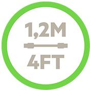 Câble de recharge/synchronisation micro-USB vers USB Belkin (mâle/mâle) de 1,20m de long. - Icône du cordon de 1,20m