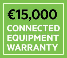 Garantie für angeschlossene Geräte zum Schutz Ihrer angeschlossenen Geräte für einen Wert von bis zu 15.000 EUR.