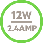 12 Watt/2.4 Amp icon