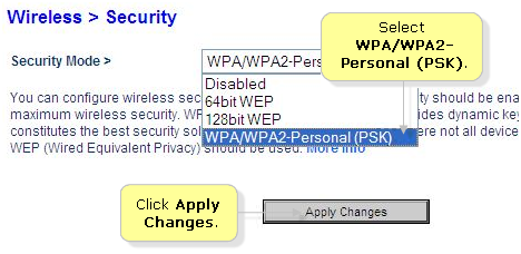 Belkin Official Support - Setting up WPA™ or WPA2™ security