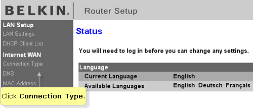 Official belkin support site setting up a belkin router for dsl select your connection type for dsl internet service providers select pppoe keyboard keysfo Images