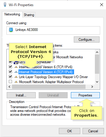 linksys assign static ip address