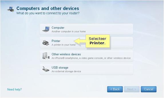 Officiële Ondersteuning Van Linksys Een Draadloze Printer