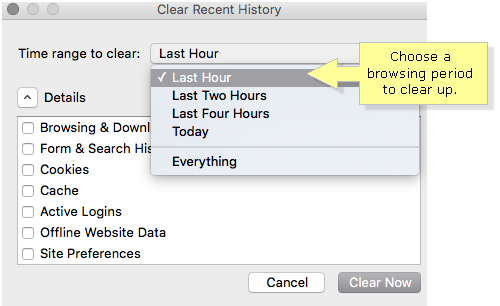 how to clean the browser cache on a mac computer
