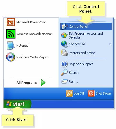 turn off firewall windows xp