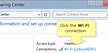 Click the Wi-Fi connection