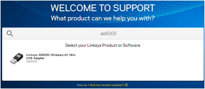 linksys ae6000 usb wifi adapter driver