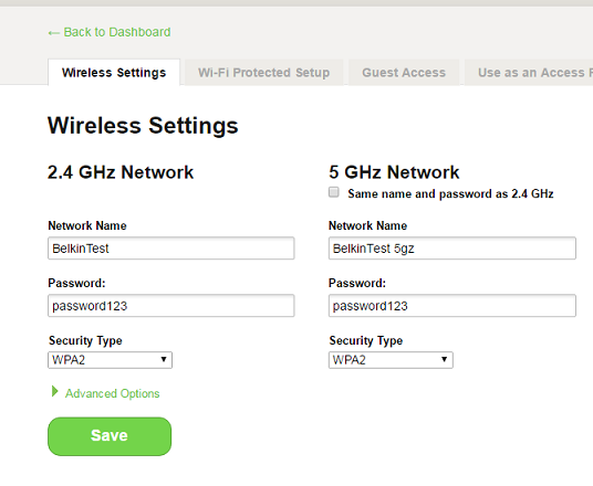 Belkin Official Support - Configuring the Belkin dual-band router's