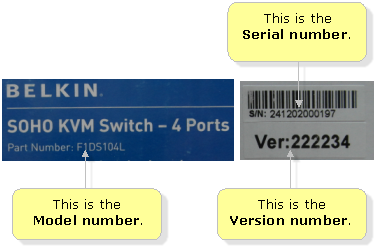 Belkin Official Support - Finding the model, version, and