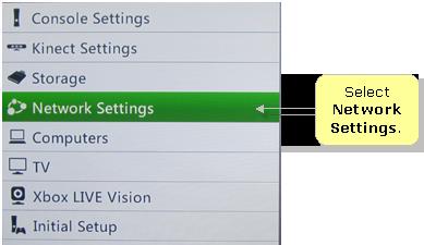 manually set ip address xbox 360